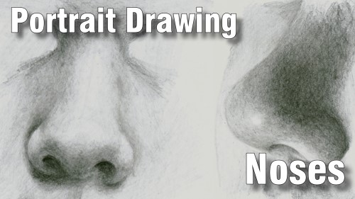 how to draw pencil portrait_noses
