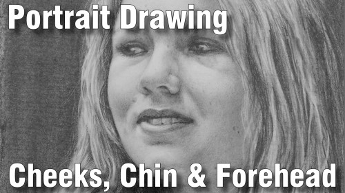 how to draw pencil portrait_cheeks_chin_forehead