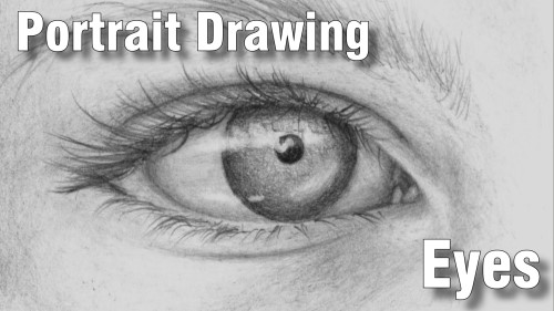 how to draw pencil portrait_eyes