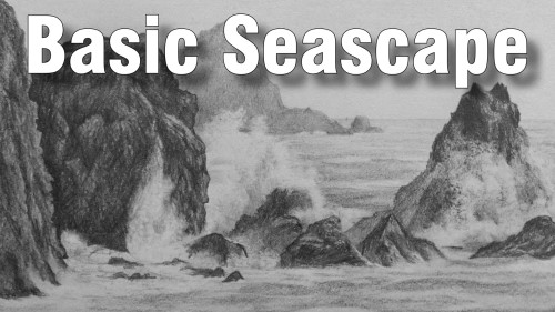 how to draw basic seascape pencil