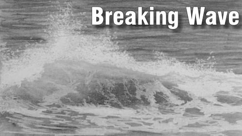 Online art class breaking wave in pencil paint basket tv breaking wave in pencil how to draw ccuart Gallery