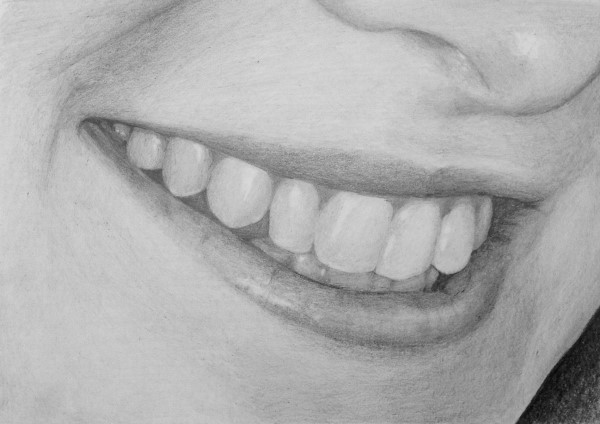 how to draw a mouth for a portrait
