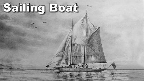 how to draw a sailing boat ship sea