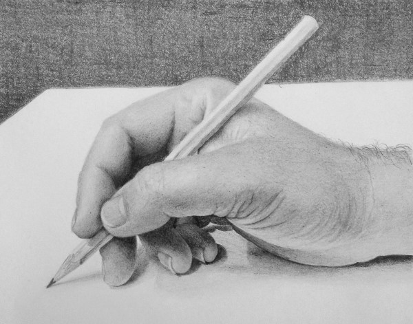 how to draw hands in pencil