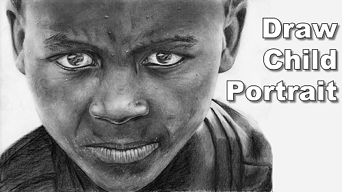 how to draw portraits children