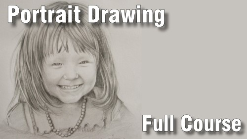 full portrait drawing course pencil