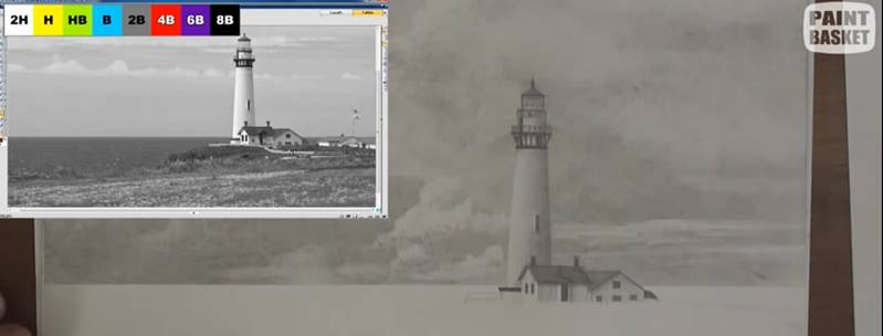 drawing a lighthouse