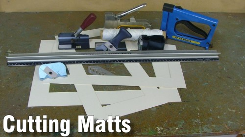 how to cut matts for your watercolour paintings
