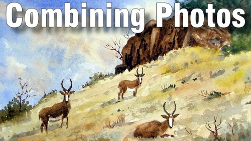 how to combine photos for a painting