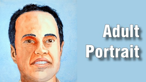 how to paint adult portrait watercolour
