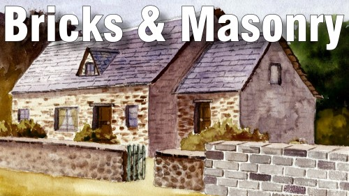 how to paint bricks masonry watercolour