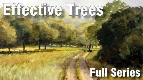 how to paint effective trees full series  watercolour