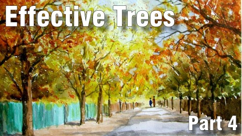 how to paint effective trees part four watercolour