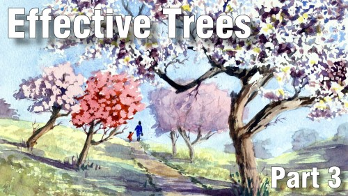 how to paint effective trees part three watercolour