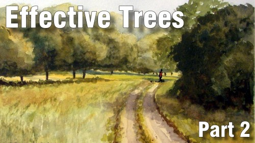 how to paint effective trees part two watercolour
