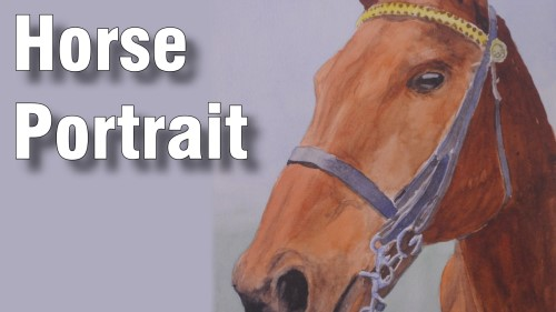 how to paint horse watercolour