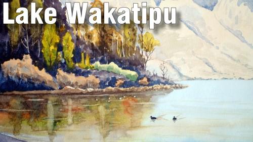 how to paint lake wakatipu watercolour