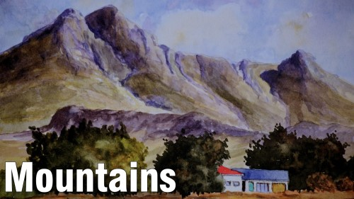how to paint mountain watercolour