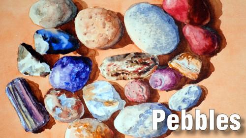 how to paint pebbles watercolour