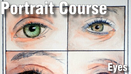 how to paint eyes portrait course watercolour