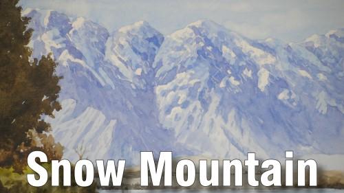 how to paint snow mountain watercolour