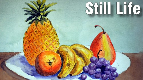 how to paint still life watercolour