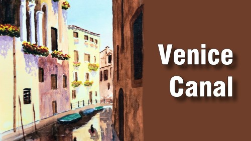 how to paint venice canal watercolour