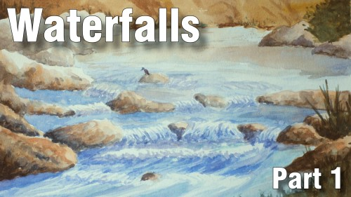 how to paint waterfalls part one watercolour