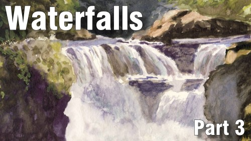 how to paint waterfall part three watercolour