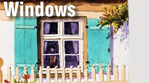 how to paint windows watercolour