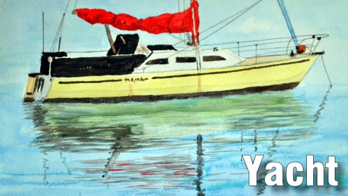 how to paint yacht watercolour