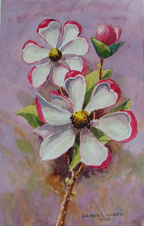 Paint Basket Art Lessons : How to paint a magnolia flower in watercolour art