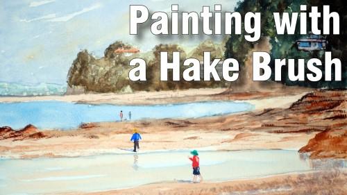 painting with hake brush watercolour